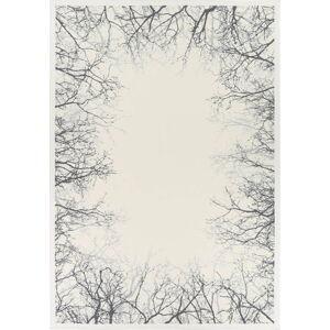 Bílý oboustranný koberec Narma Pulse White, 80 x 250 cm