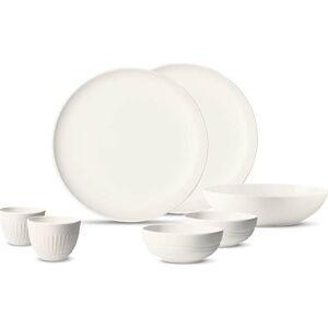 7dílný set bílého porcelánového nádobí First Love