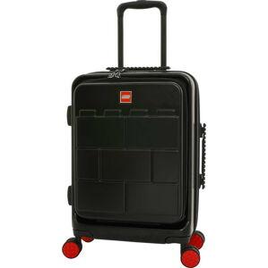 Černý dětský kufr na kolečkách se zámkem LEGO® Fasttrack 20