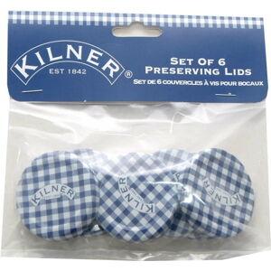 Sada 6 víček na zavařovací sklenice Kilner