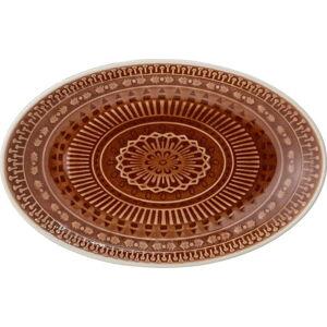 Hnědočervený servírovací talíř Bloomingville Rani,22,5x14cm