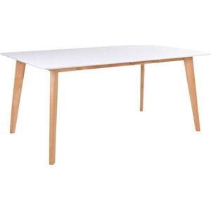 Bílý jídelní stůl s hnědýma nohama House Nordic Vojens, délka 150 cm