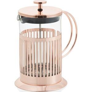 French press na čaj a kávu Brandani Rose Gold, 600 ml