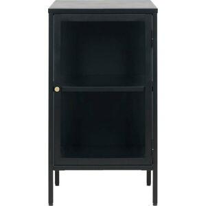 Černá vitrína Unique Furniture Carmel,výška 85 cm