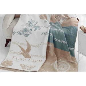 Deka s příměsí bavlny Aksu Alexa, 200 x 150 cm
