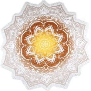 Kruhová plážová bavlněná osuška ATMOSPHERE Jayden, ⌀ 160 cm
