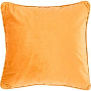 Světle oranžový polštář Tiseco Home Studio Velvety, 45x45cm
