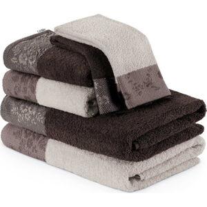 Sada 6hnědých ručníků aosušek AmeliaHome