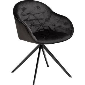 Černá sametová židle DAN-FORM Denmark Cray