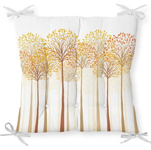 Podsedák na židli Minimalist Cushion Covers Gold Trees, 40 x 40 cm