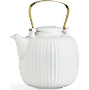 Bílá porcelánová čajová konvice Kähler Design Hammershoi, 1,2 l