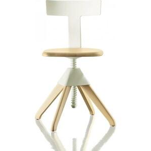 Bílo-hnědá kancelářská židle Magis Tuffy