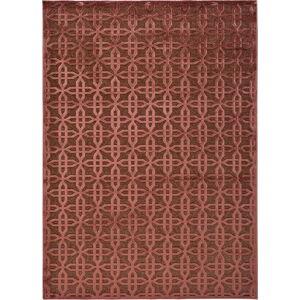 Červený koberec z viskózy Universal Margot Copper, 60 x 110 cm