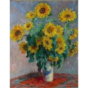 Reprodukce obrazu Claude Monet - Bouquet of Sunflowers , 50 x 40 cm