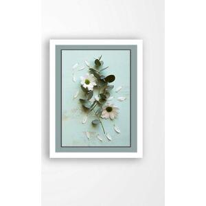 Nástěnný obraz na plátně v bílém rámu Tablo Center Blue Garden, 29 x 24 cm