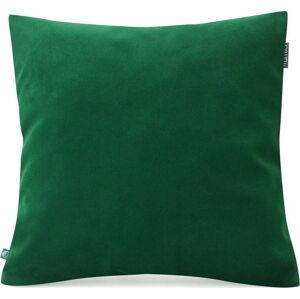 Lahvově zelený povlak na polštář se sametovým povrchem Mumla Velvet, 45 x 45 cm