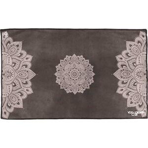 Černý ručník na jógu Yoga Design Lab Mandala, 61x38cm