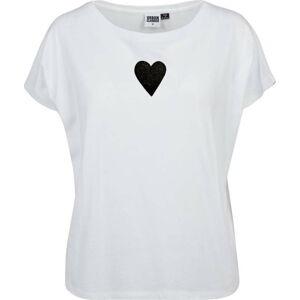 Dámské bílé triko s motivem Spolu od Lény Brauner & IM Cyber pro KlokArt, vel.L