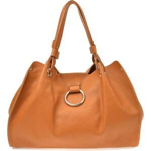 Hnědá dámská kožená kabelka Sofia Cardoni Milano