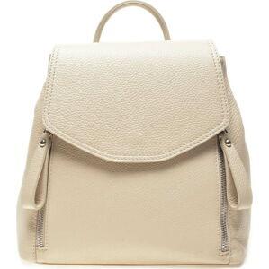 Béžový kožený batoh Carla Ferreri