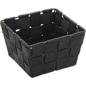 Černý úložný košík Wenko Adria, 14 x 14 cm