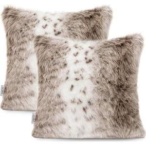 Sada 2 potahů na polštáře AmeliaHome Nancy Lynx, 45 x 45 cm