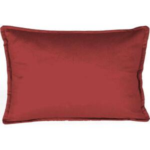 Cihlově červený dekorativní povlak na polštář Velvet Atelier, 50 x 35 cm
