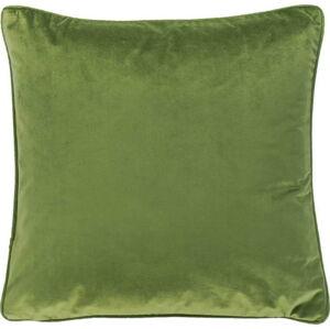 Tmavě zelený polštář Tiseco Home Studio Velvety, 45x45cm