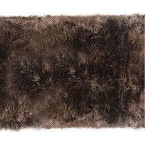 Hnědý koberec z ovčí vlny Royal Dream Zealand Long, 70x190cm