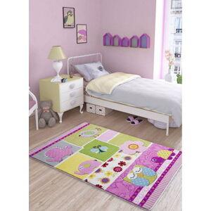 Dětský růžový koberec Confetti Patchwork, 100x150cm