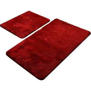 Sada 2 červených koupelnových předložek Chilai Home by Alessia