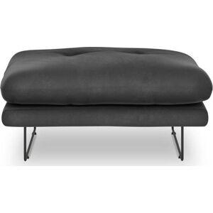 Tmavě šedý puf se sametovým potahem Windsor & Co Sofas Gravity