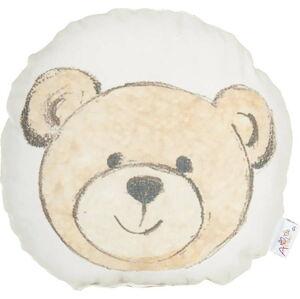 Dětský polštářek s příměsí bavlny Apolena Pillow Toy Bearie, 23 x 23 cm