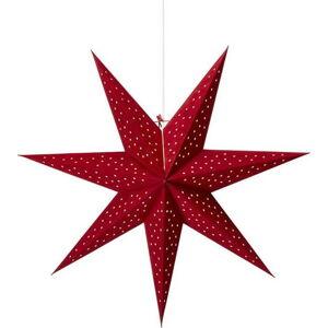 Červená závěsná světelná dekorace Markslöjd Clara,výška75cm