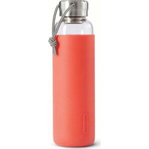 Skleněná láhev na vodu s červeným silikonovým obalem Black + Blum G-Bottle,600ml