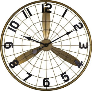 Nástěnné hodiny Antic Line Laiton, ø 60 cm
