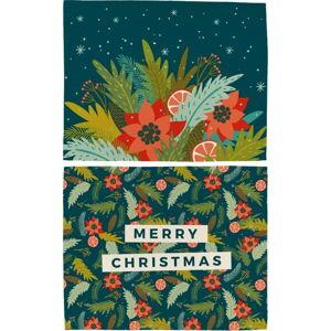 Vánoční prostírání z bavlny Butter Kings Happy Merry,45x35cm