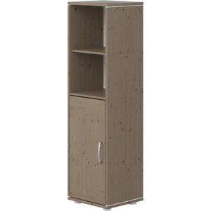 Hnědá dětská skříňka z borovicového dřeva Flexa Classic, výška 133 cm
