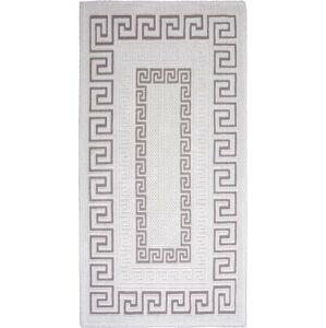 Šedobéžový bavlněný koberec Vitaus Versace, 60x90cm