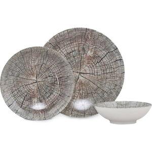 18dílná sada porcelánového nádobí Güral Porselen Wood