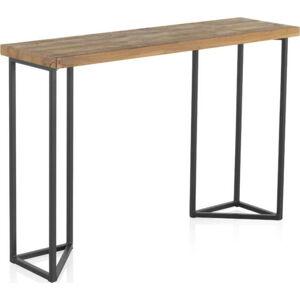 Konzolový stolek s deskou z jilmového dřeva Geese Lorena, výška 83cm