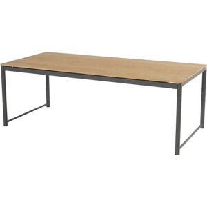 Zahradní stůl z týkového dřeva s černým podnožím Hartman Fontaine
