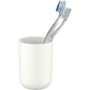 Bílý kelímek na zubní kartáčky Wenko Brasil