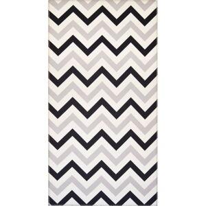 Černobílý koberec Vitaus Olivia,80x150cm