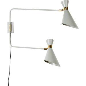 Šedá nástěnná lampa Zuiver Shady Double