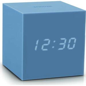 Azurově modrý LED budík Gingko Gravity Cube