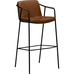 Hnědá barová koženková židle DAN-FORM Denmark Boto