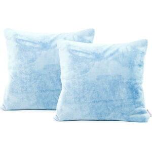 Sada 2světle modrých povlaků na polštář DecoKing Mic, 45x45cm