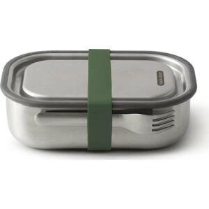 Nerezová svačinová krabička se zeleným páskem Black + Blum, 1000ml