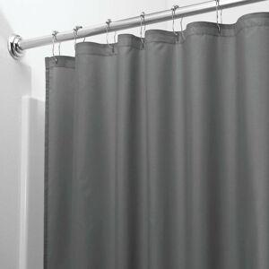 Šedý sprchový závěs iDesign, 183x183cm